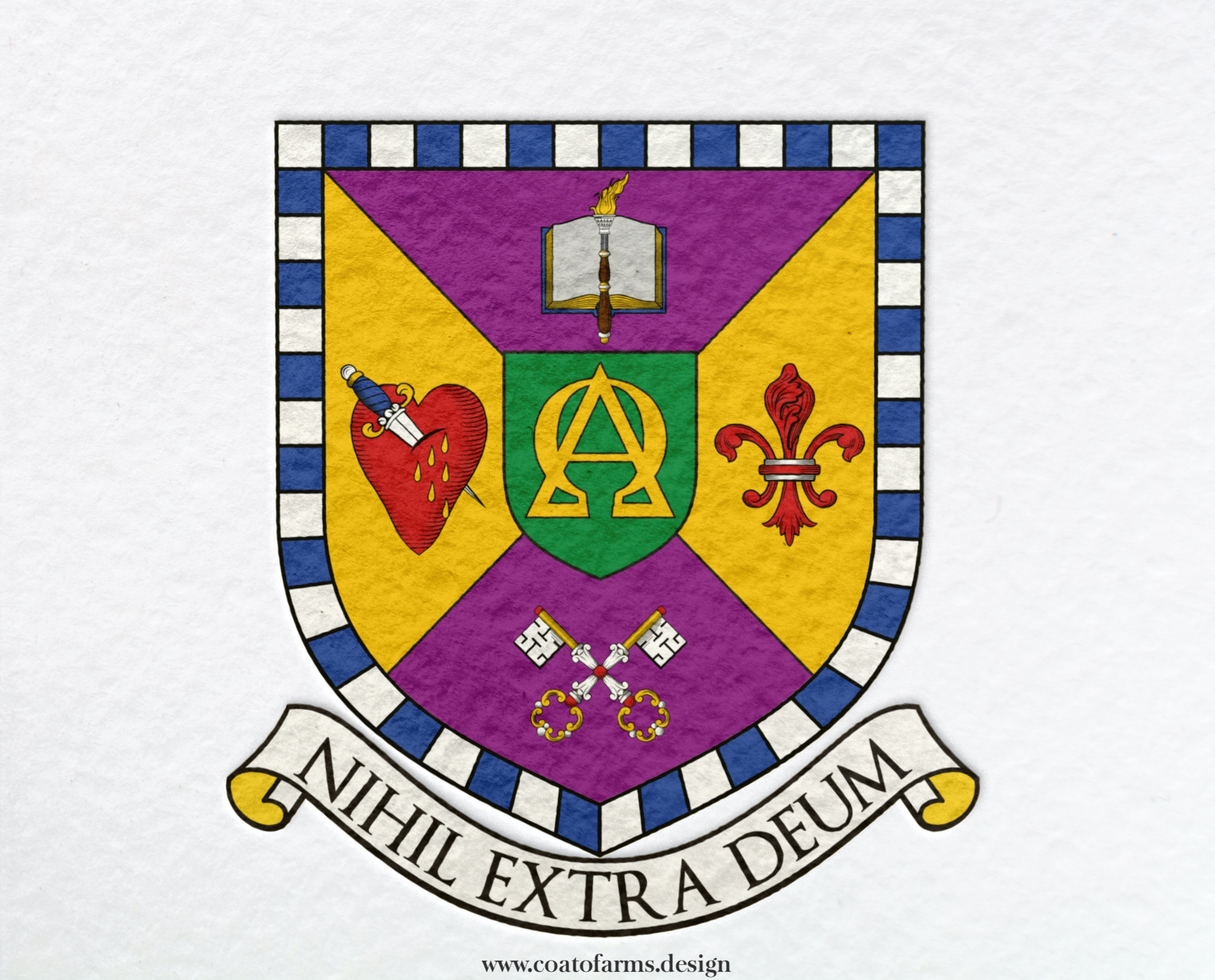 Ministerial seal or coat of arms (emblem) I designed for a client from Brazil small