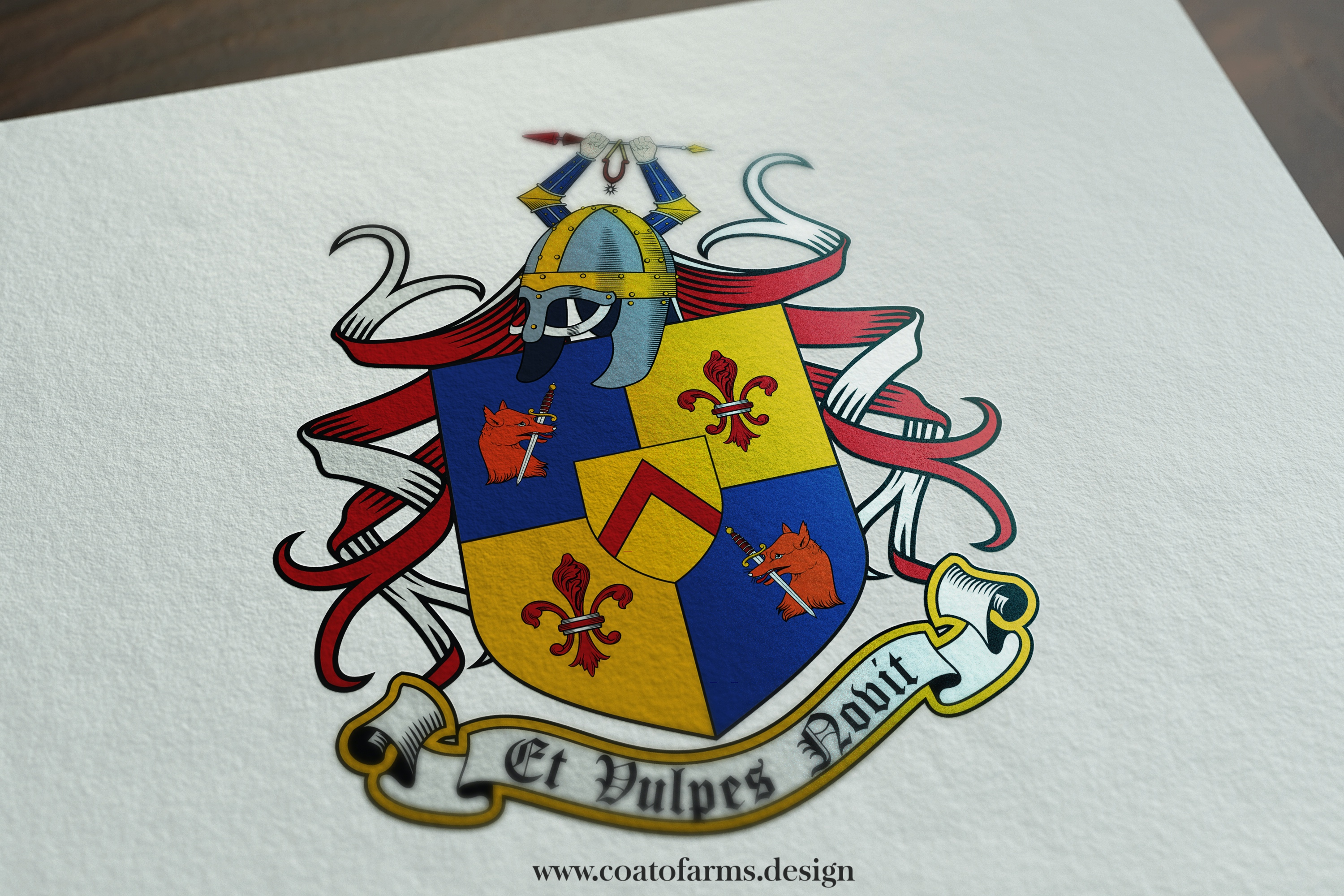 A family crest I designed for Stafford family from the USA big