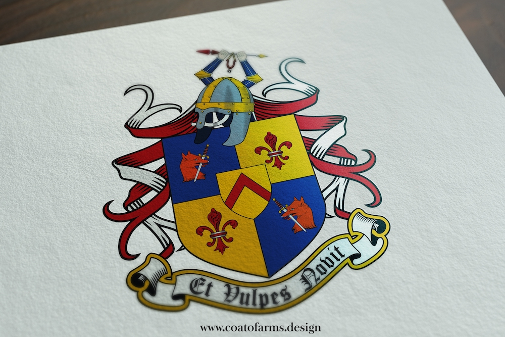 A family crest I designed for Stafford family from the USA small