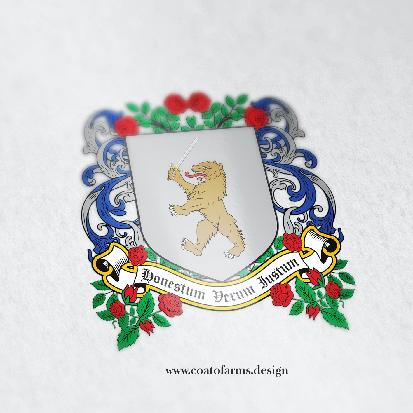 Fictional coat of arms I designed for a historical romance author (big)
