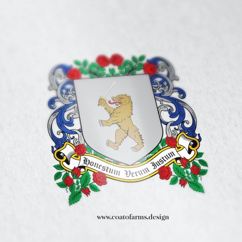 Fictional coat of arms I designed for a historical romance author