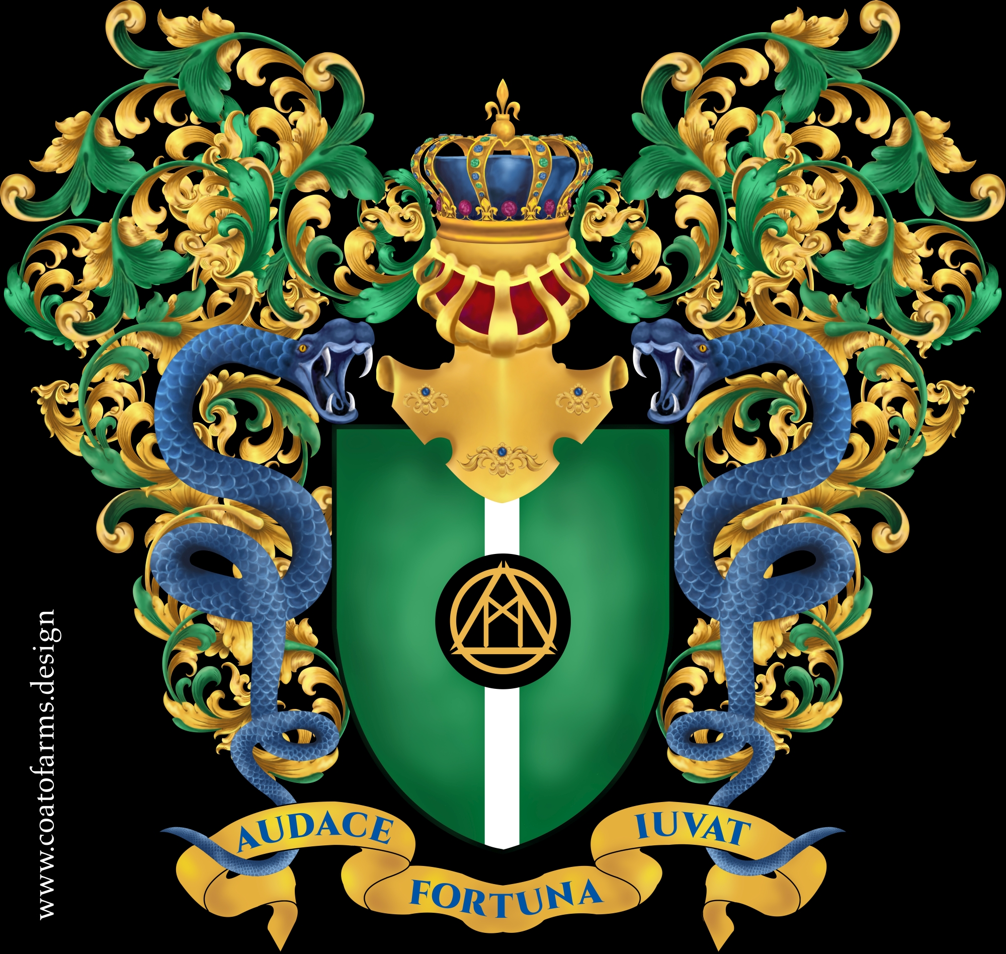 Coat of arms for a Kabuto Kingdom micronation big version
