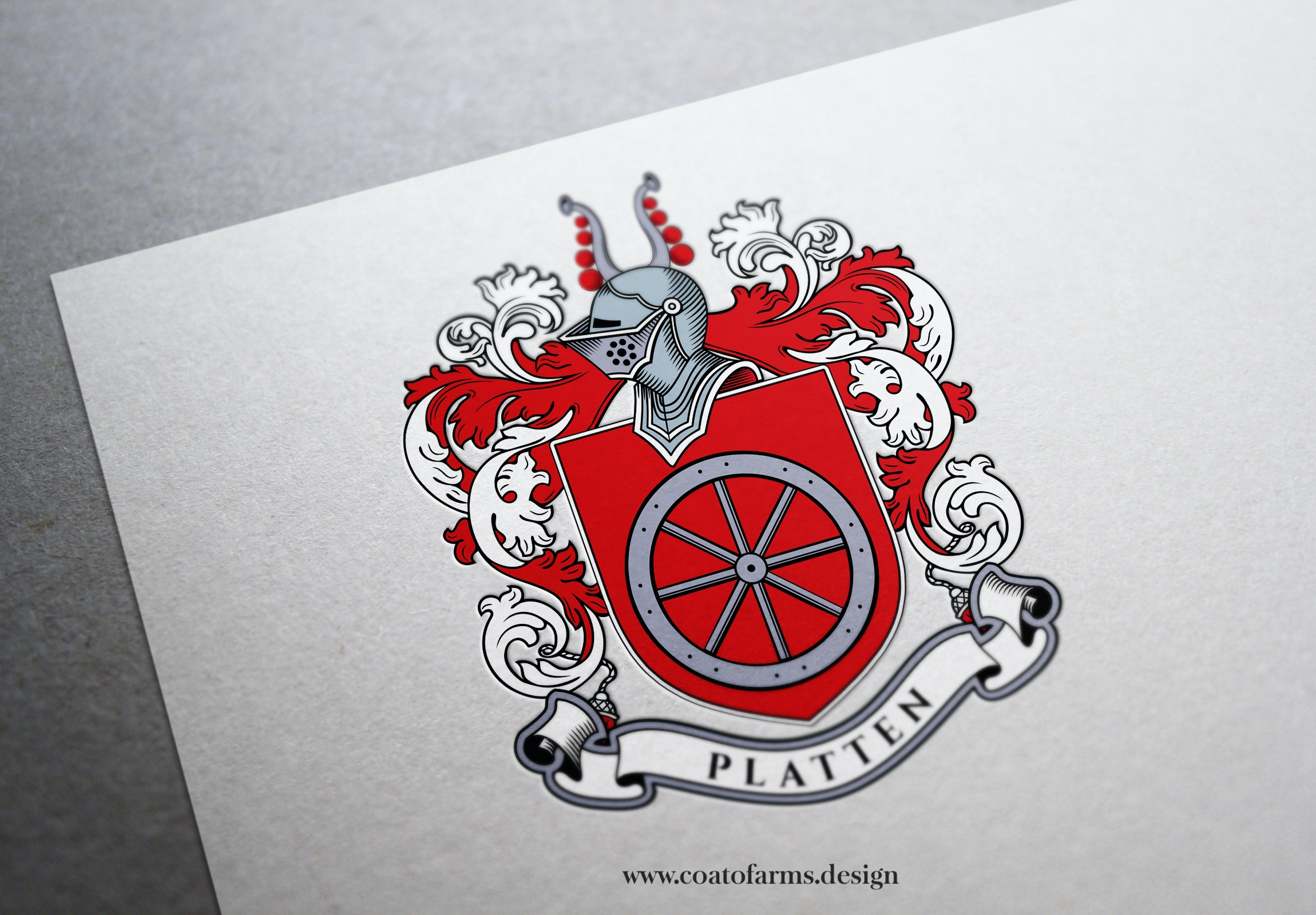 Family crest I designed for a Platten family from the UK BIG