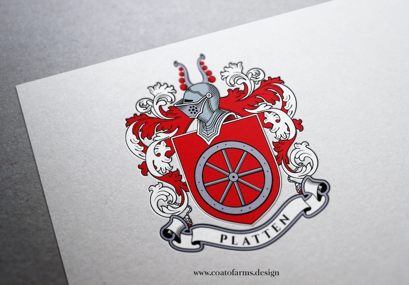 Family crest I designed for a Platten family from the UK SMALL