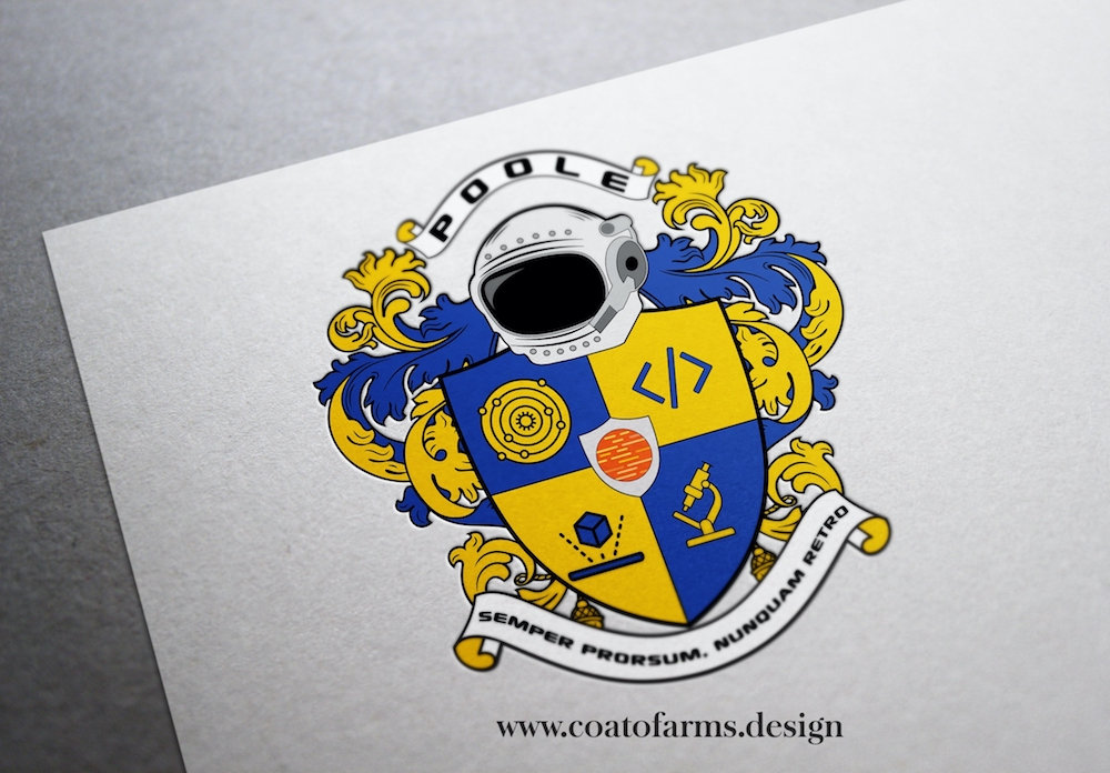 Coat Of Arms I Designed For A Software Developer And His Family From The Usa Custom Coat Of Arms And Family Crests