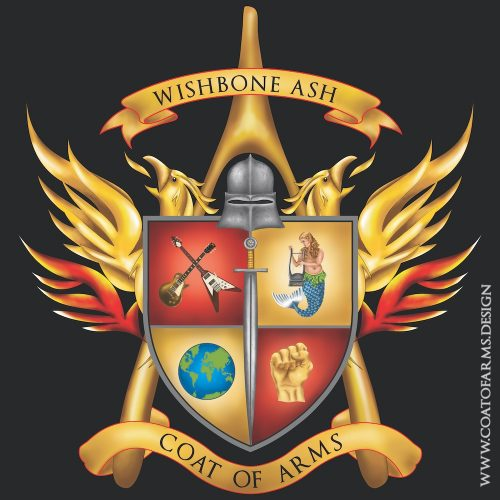 Coat of arms I designed for a British rock band Wishbone Ash for their 50th anniversary album