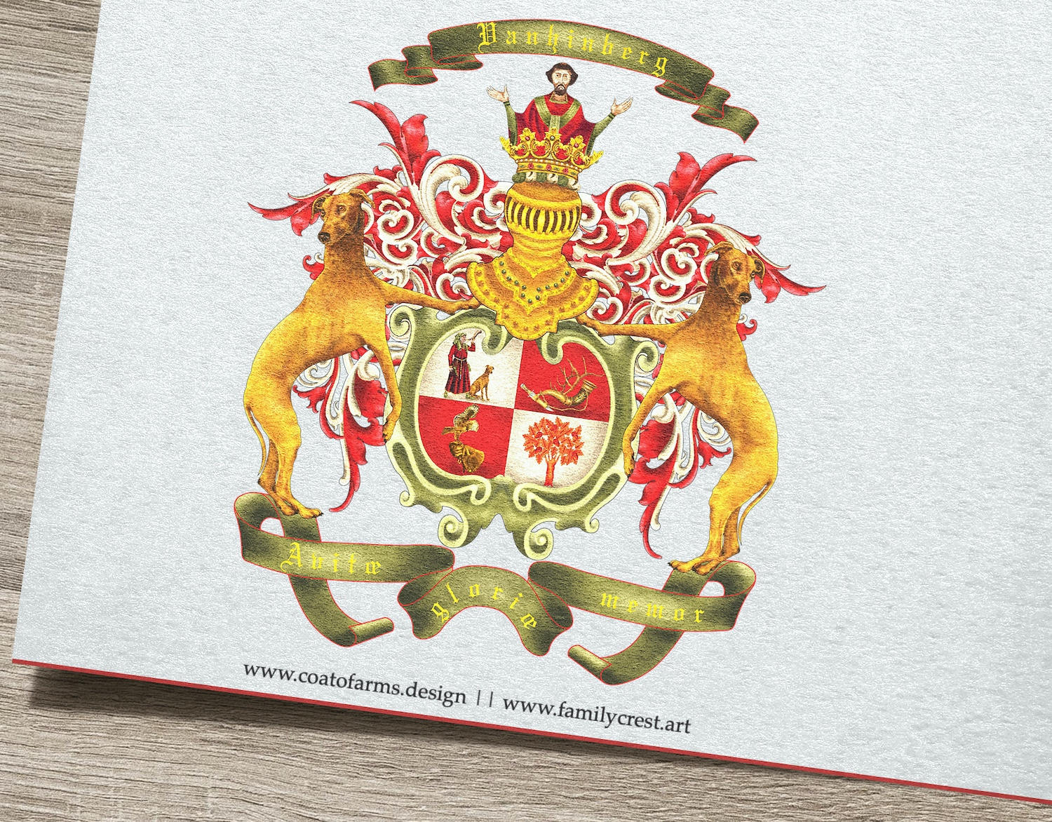 Family crest I designed for the Vanhinberg family from Germany big